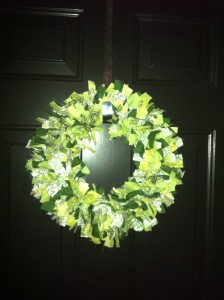 St. Pat's Day Rag Wreath