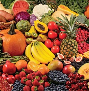 Lots of Fruits and Vegetables