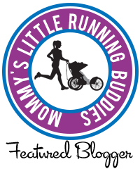 Moms Little Running Buddy Featured Blogger Badge