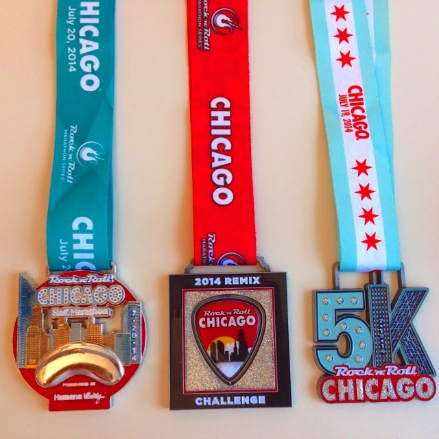 Rock 'n' Roll Chicago Race Bling