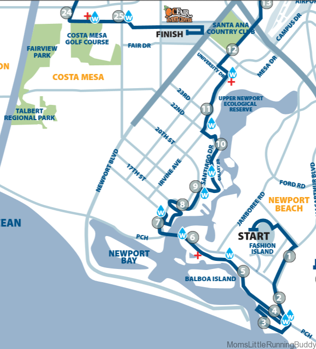 OC Marathon Race Route