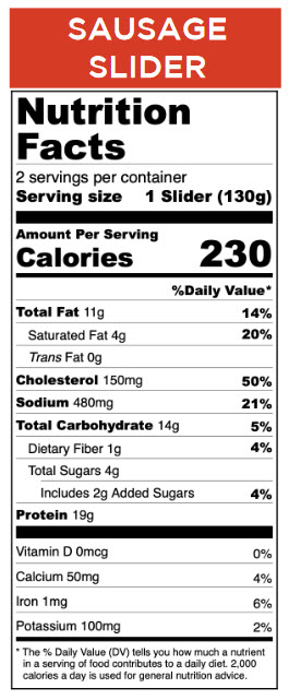 Start Right Nutrition Facts